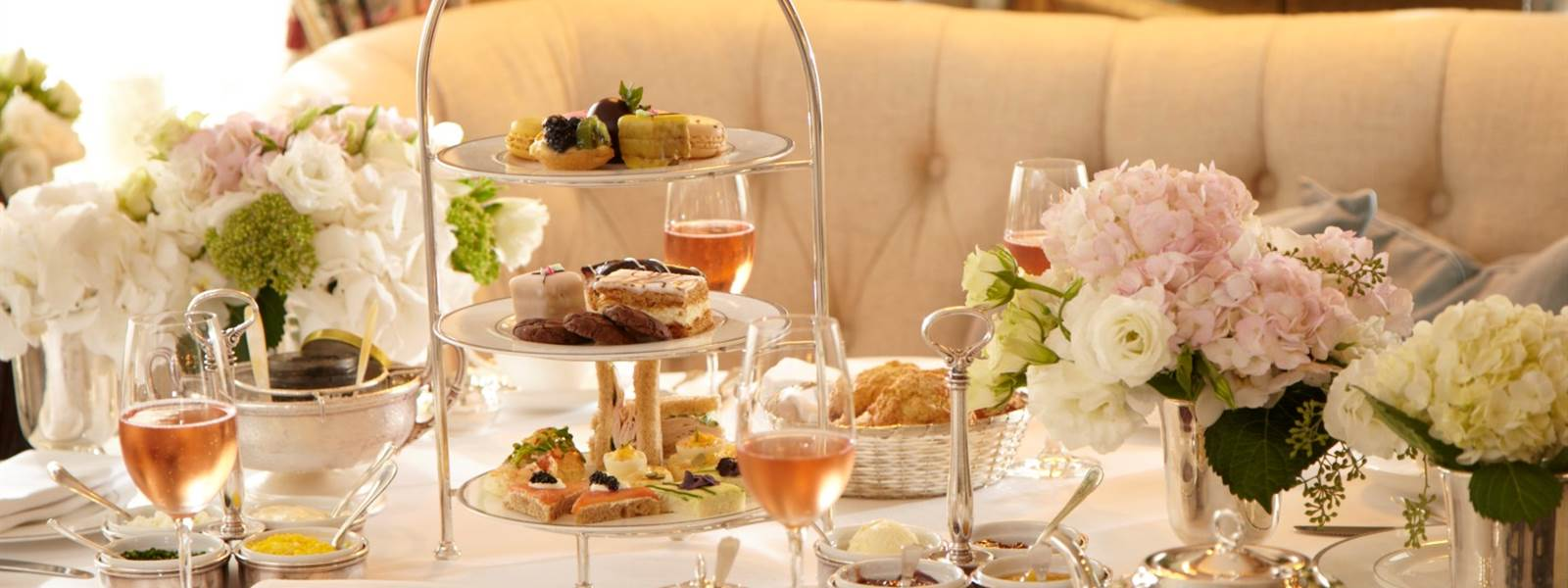Pembroke Room at The Lowell Hotel offer a luxury afternoon tea selection